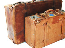 Old leather suitcases Royalty Free Stock Images