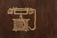 Old leather telephone book Royalty Free Stock Photography
