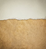 Old leather texture background pattern and vintage torn paper.  stock image