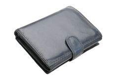 Old leather wallet Royalty Free Stock Images