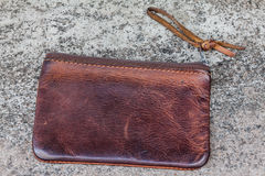 Old leather wallet Royalty Free Stock Photo