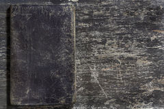 Old leather on wooden board Royalty Free Stock Images