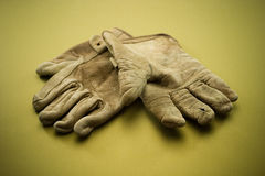 Old leather work gloves Royalty Free Stock Photos
