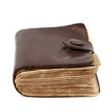 Old Leatherbound Book  on White Stock Photography