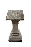 An old lectern. Old stone lectern in temple in Bangkok stock photography