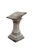 An old lectern. Old stone lectern in temple in Bangkok royalty free stock photography