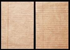 Old ledger paper Stock Image