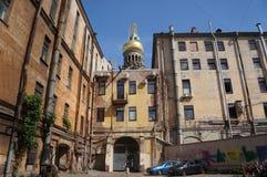 Old Leningrad courtyard Stock Photos