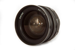 Old lens isolated ower white Stock Image
