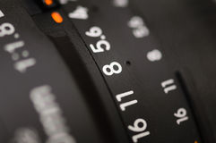 Old lens marking Royalty Free Stock Images