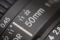 Old lens marking Stock Image