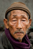 An old Lepcha man Stock Photos