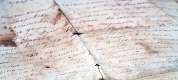 Old letter Royalty Free Stock Photography