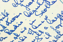 Old letter Stock Photo
