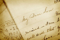 Old Letter Royalty Free Stock Photo