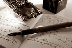 Old letter. Old writing stuff Royalty Free Stock Image