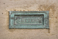 Old letter box. Royalty Free Stock Photo