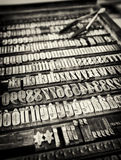 Old letter case Stock Image