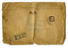 Old letter 1870, Czech republic Stock Image