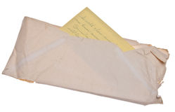 Old Letter and Envelope Stock Photo