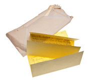 Old Letter and Envelope Stock Images