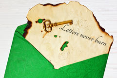 Old letter in the envelope Royalty Free Stock Photos