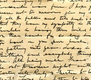 Old letter handwriting detail Stock Image
