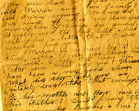 Old letter handwriting detail Stock Photo