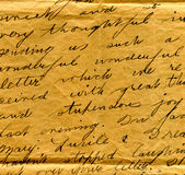 Old letter handwriting detail Royalty Free Stock Image