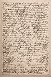 Old letter with handwritten italian text Stock Photography