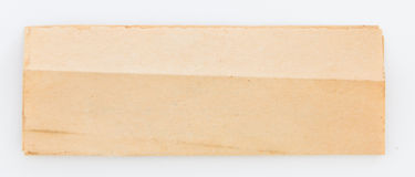 Old letter paper. On white background Stock Photography