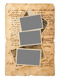 Old letter and pictures Royalty Free Stock Image