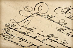 Old letter with vintage handwriting Royalty Free Stock Photo