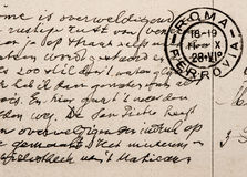 Old letter, vintage handwriting, english language Royalty Free Stock Photography