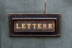 Old letter box Stock Photo
