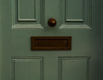 Old letterbox in the door, traditional way of delivering letters Royalty Free Stock Image