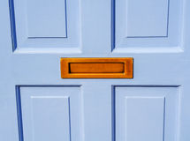Old letterbox in the door, traditional way of delivering letters Royalty Free Stock Photography