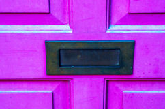 Old letterbox in the door, traditional way of delivering letters Royalty Free Stock Photos