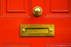 Old letterbox in the door, traditional way of delivering letters Stock Images