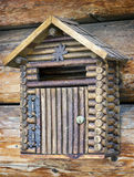 Old letterbox. At a front door Royalty Free Stock Photography