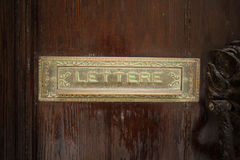 Old letterbox in Malta Royalty Free Stock Image