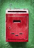 Old letterbox. Old rusty letterbox - close up Stock Photo