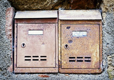 Old letterboxes Royalty Free Stock Photography