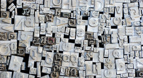 Old letterpress German letters Royalty Free Stock Image