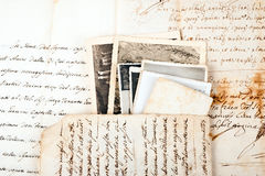 Old letters Stock Images