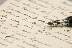 Old letters Royalty Free Stock Photo