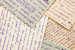 Old letters as a background Stock Image