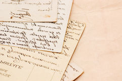 Old letters as a background Royalty Free Stock Photos