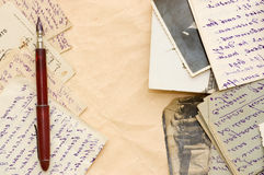 Old letters as a background. Still life stock photo