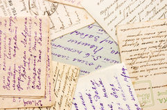 Old letters as a background Royalty Free Stock Photo